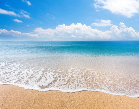 Photo for beach and tropical sea - Royalty Free Image