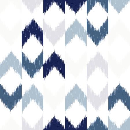 Illustration pour Vector seamless patter design with chevron ikat repeating ornaments - image libre de droit