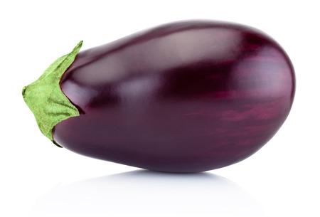 Photo pour One fresh aubergine isolated on a white background - image libre de droit
