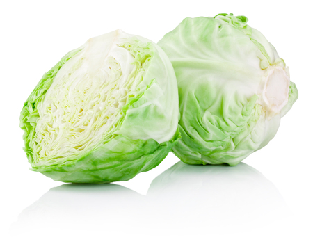 Photo pour Green cabbage isolated on a white background - image libre de droit