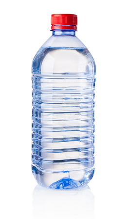 Photo for Plastic bottle of drinking water isolated on white background - Royalty Free Image