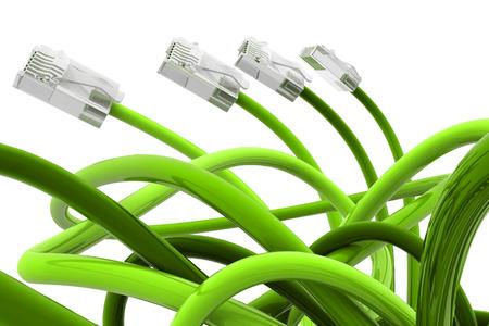 Foto für Green color network cable - Lizenzfreies Bild