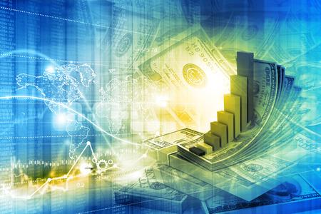 Foto de Digital illustration of Financial growth concept - Imagen libre de derechos