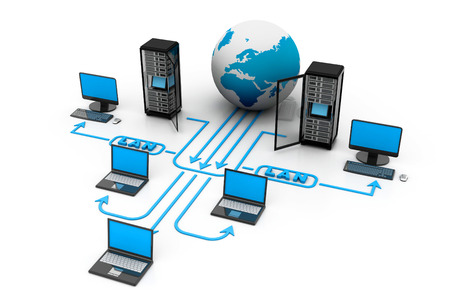 Photo pour Computer network - image libre de droit