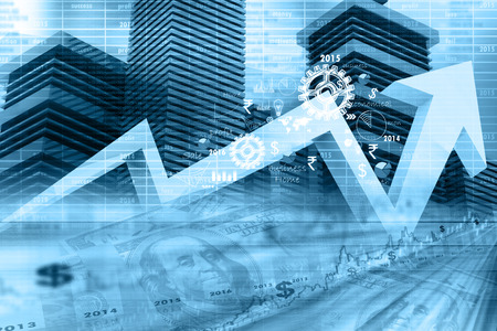 Photo pour Economical stock market graph - image libre de droit