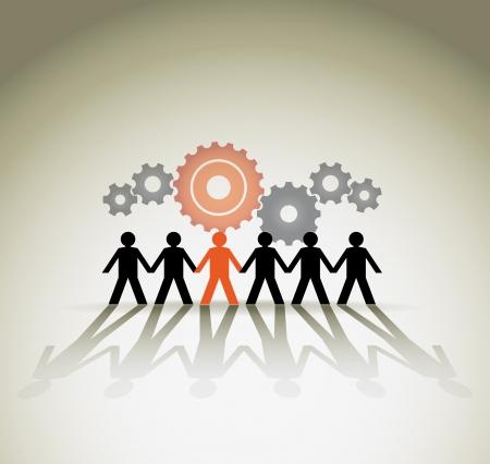 Ilustración de Human figures, unity concept. Vector illustration - Imagen libre de derechos