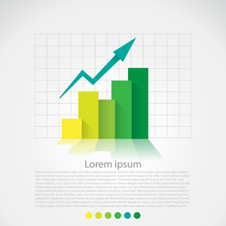 Illustration pour Flat design chart, infographics elements. Vector - image libre de droit