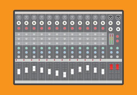 Illustration pour Analog audio mixer, vector illustration - image libre de droit