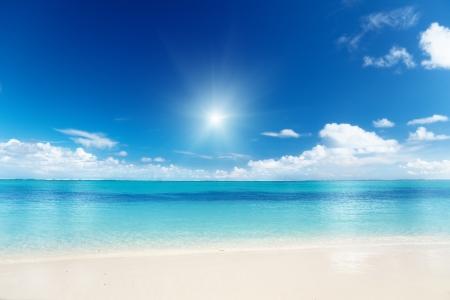 Foto de sand of beach caribbean sea - Imagen libre de derechos