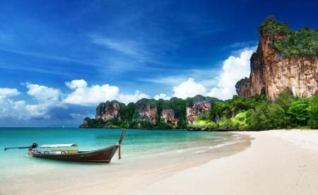 Foto de Railay beach in Krabi Thailand - Imagen libre de derechos