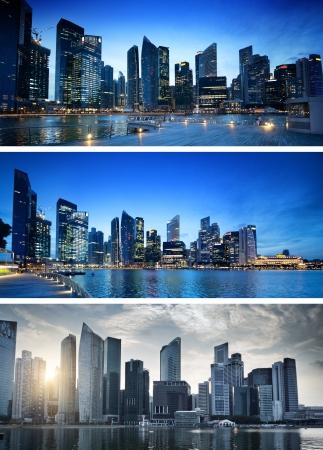 Foto de Singapore city in sunset time - Imagen libre de derechos
