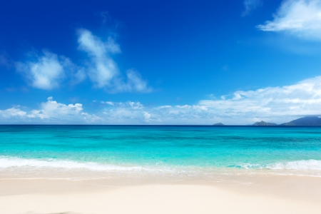 Photo pour beach of Mahe island, Seychelles  - image libre de droit