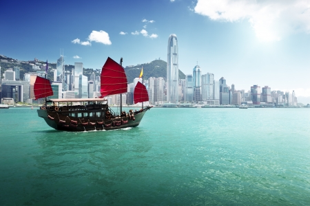 Photo pour Hong Kong harbour - image libre de droit
