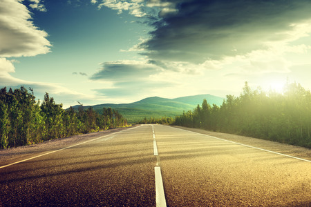 Foto per road in mountains - Immagine Royalty Free