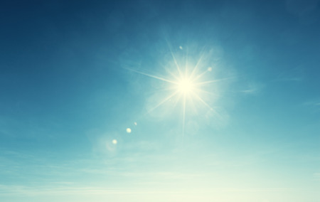 Photo for blue sky and sun - Royalty Free Image