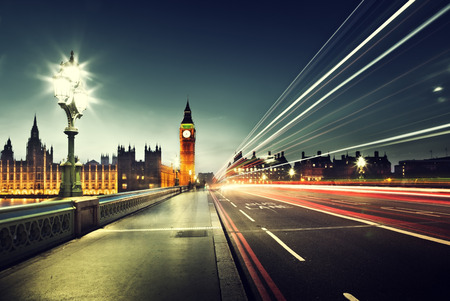Photo pour Big Ben from Westminster Bridge, London - image libre de droit
