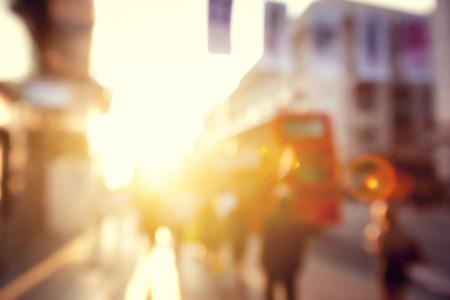 Foto de people in bokeh, street of London - Imagen libre de derechos