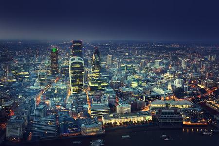 Photo pour City of London At Sunset - image libre de droit