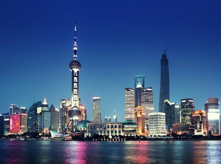 Photo for Shanghai at night, China - Royalty Free Image