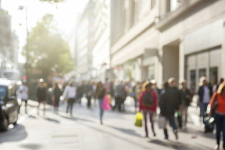 Foto per people in bokeh, street of London - Immagine Royalty Free