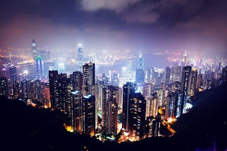Photo pour Hong Kong island from Victoria's Peak - image libre de droit