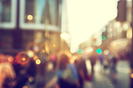 Foto de people in bokeh, street of London - Imagen libre de derechos