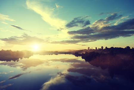Photo for sunset on the river - Royalty Free Image