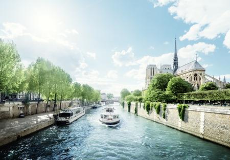 Photo for Seine and Notre Dame de Paris, Paris, France - Royalty Free Image