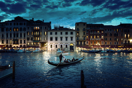 Photo pour Grand Canal in sunset time, Venice, Italy - image libre de droit