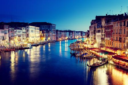 Foto de Grand Canal in sunset time, Venice, Italy - Imagen libre de derechos