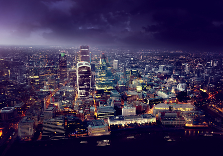 Photo for City of London At Sunset - Royalty Free Image