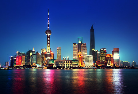 Photo pour Shanghai at night, China - image libre de droit