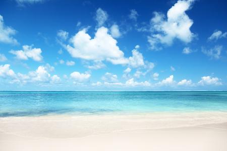 Photo pour sand of beach caribbean sea - image libre de droit