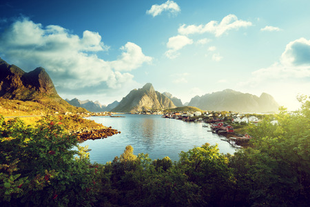 Photo pour Reine Village, Lofoten Islands, Norway - image libre de droit