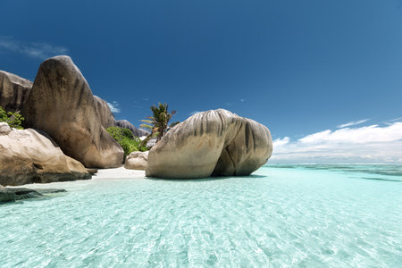 Photo for Anse Source d'Argent beach, La Digue, Seyshelles - Royalty Free Image