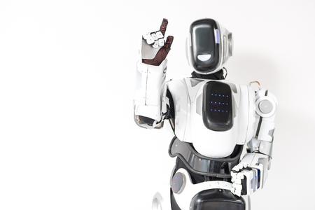 Foto de Robot is working with unseen touchscreen - Imagen libre de derechos