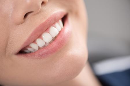 Photo pour Cheerful smile with brilliant teeth - image libre de droit