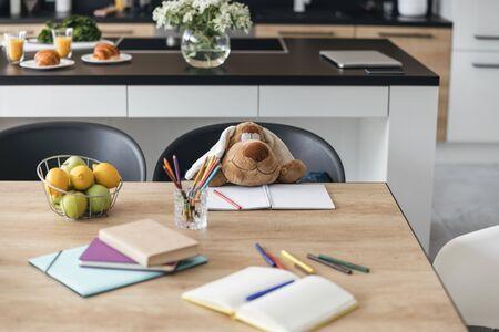Foto de Even toys do school homework stock photo - Imagen libre de derechos