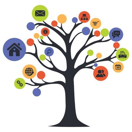 Illustration pour web icon tree - image libre de droit