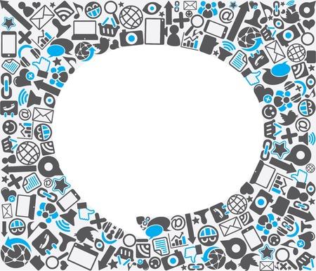Photo pour speech bubble social icon background - image libre de droit