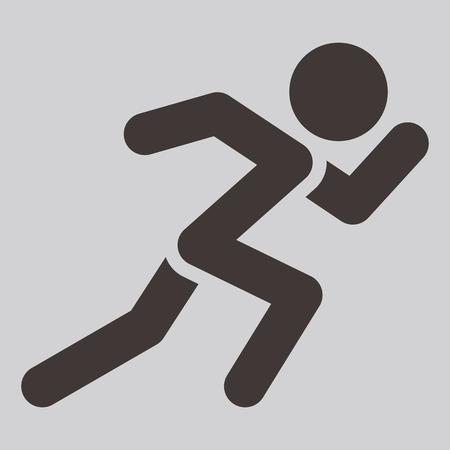 Summer sports icons - running