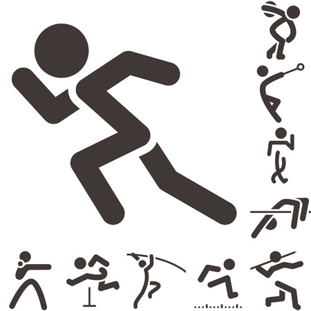 Foto de Summer sports icons -  set of athletics icons - Imagen libre de derechos