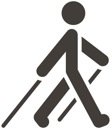 Illustration pour Health and Fitness icons set - Nordic Walking icon - image libre de droit