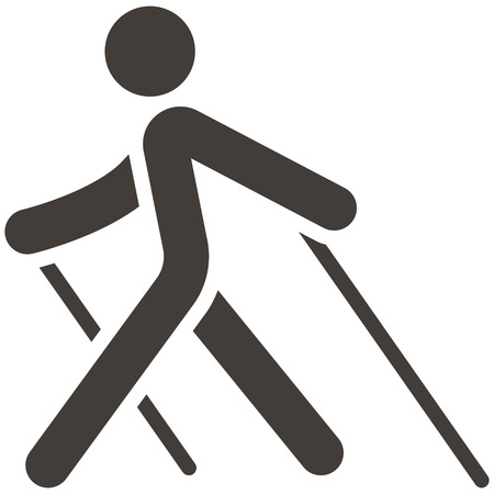 Ilustración de Health and Fitness icons set - Nordic Walking icon - Imagen libre de derechos