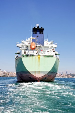 Photo for Back of the large tanker ship - Royalty Free Image
