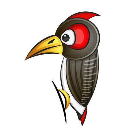 Ilustración de Woodpecker. Abstract woodpecker on white background. EPS 10. Vector illustration - Imagen libre de derechos