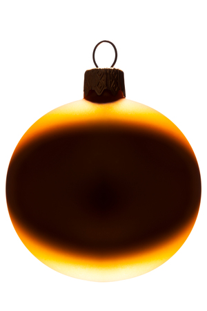 Photo for Yellow christmas ball isolated on white background - Royalty Free Image
