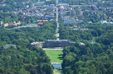 Photo pour Wilhelmshoehe Castle Park in Kassel, Germany - image libre de droit