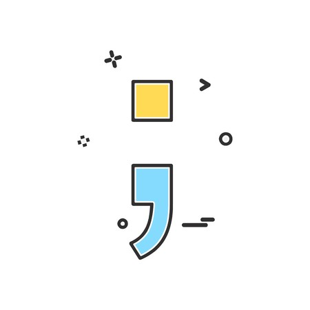 Illustration for Semicolon icon design vector - Royalty Free Image