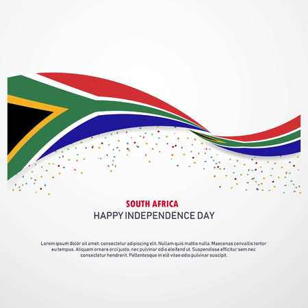 Illustration pour South Africa Happy independence day Background - image libre de droit